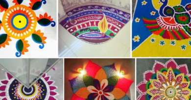 On the day of Diwali, make Rangoli the main gate of the house