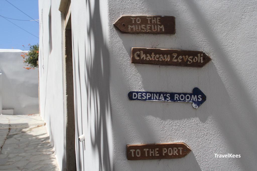 straatje in centrum van Naxos stad