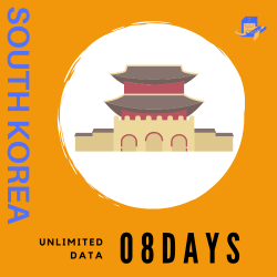 South Korea Travel Sim Card | 8 Days | True Unlimited Data