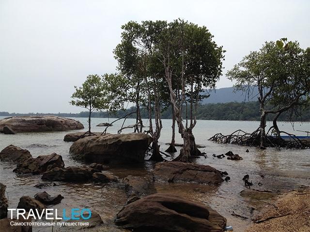 Пляж на острове Хон Мот (Hon Mot) Фукуок, Вьетнам