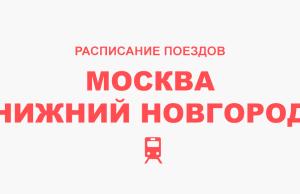 Расписание поездов Москва - Нижний Новгород
