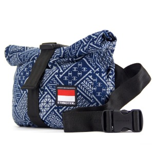 17. Travel beautifully with this cyclo travel sling from small start-up Ethnotek. Their black base bags are water-resistant nylon, decorated with a removable panel handwoven by local artists across the developing world. The Cyclo Travel Sling Bag, Indonesia 6, includes hidden pockets for phones and glasses and a secure passport pocket at the back. $89.95, rushfaster.com.au.