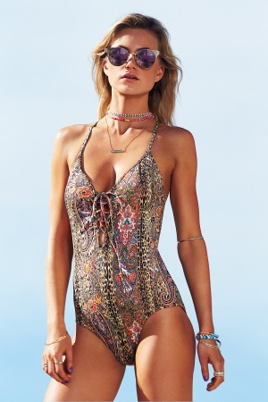 14. Move over, big sister. Ginja swimwear is designed by brother-sister team Tammy and Dax Bykerk, who also design Baku swimwear. The Serengeti Lace-Up Plunge Maillot, from the Spring-Summer 2014/15 range, is available in sizes 6 to 16. $149.95, ginjaswimwear.com.au.