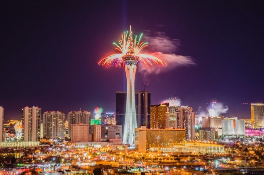 Top 10 places to celebrate New Year s Eve around the world Photo  iStock  Fireworks explode from casinos along The Strip at midnight in  Las Vegas