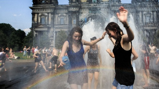 Europe can actually be hot. Really hot. Locals need to find innovative ways to cool down.