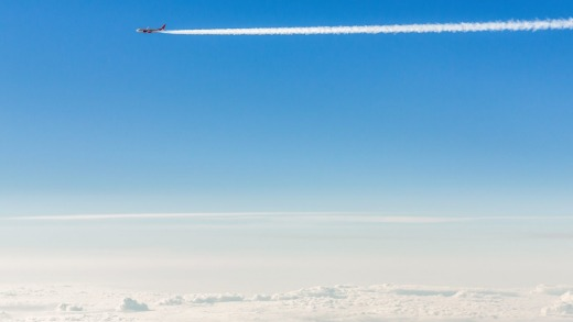 Contrails are said to contribute to global warming.