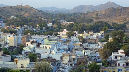The village of Delwara from the ramparts of RAAS Devigarh.