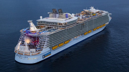 Harmony of the Seas, offshore in Barcelona.