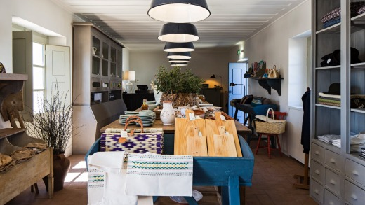 The farm shop at Sao Lourenco do Barrocal, a winery and boutique hotel,  sells local artisanal products.