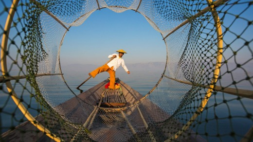 Travel is filled with the most inspirational moments and people. Photo: A fishermen at Inle Lake, Shan State, Myanmar.
