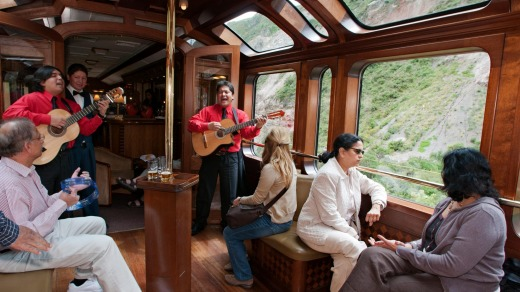 Music and views aboard the Hiram Bingham.