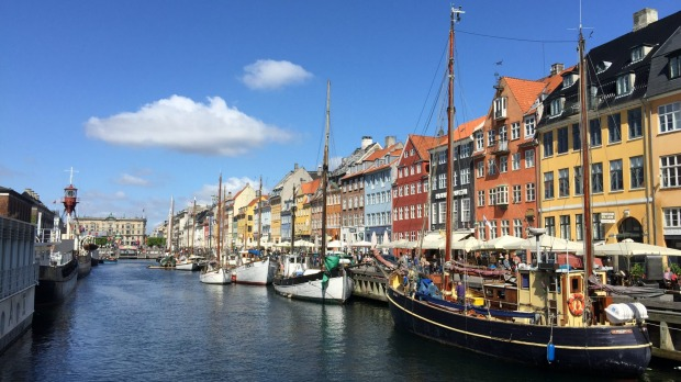 The city's hip canal-side precinct of Nyhavn.