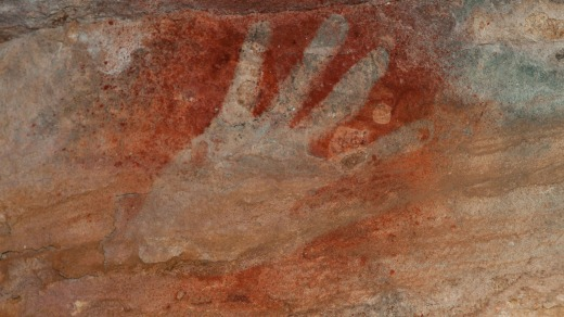A Kaiara hand on a cliff on Bigge Island reveals insights into human civilisation in Australia's north-west.