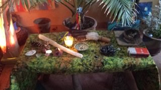 The Sacred Flame altar