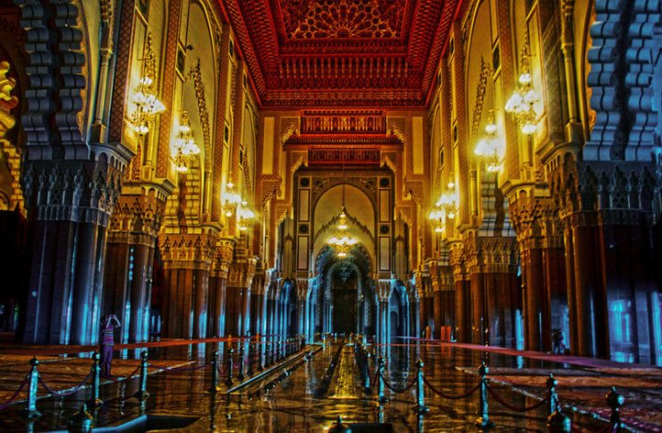 Moschea Hassan II interni