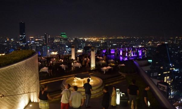 Un aperitivo al Lebua, il più famoso Sky Bar a Bangkok