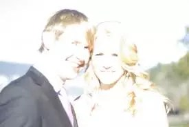 example of two people in an overexposed picture