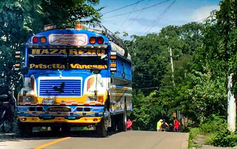 "Ometepe Island Local ""Chicken"" Bus"