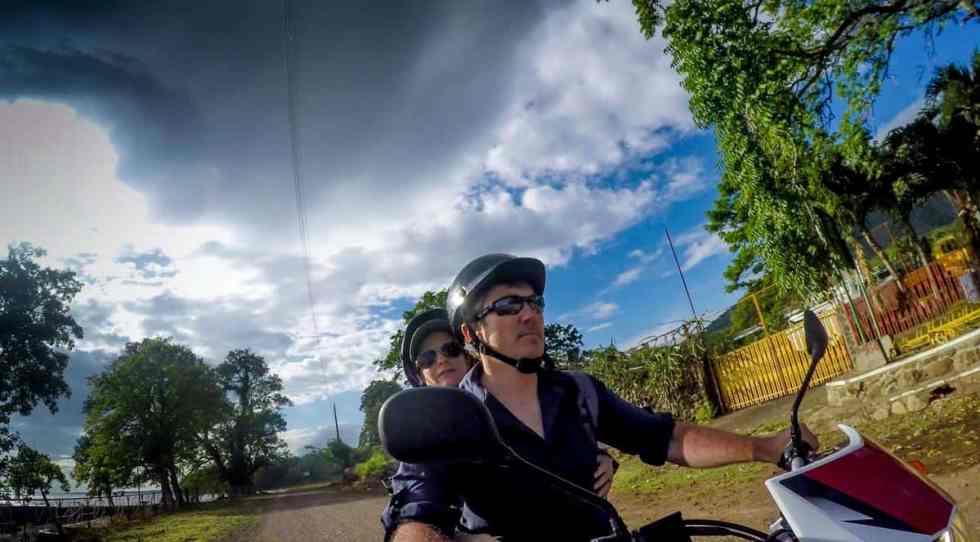 motorbiking on Ometepe Island, Nicaragua