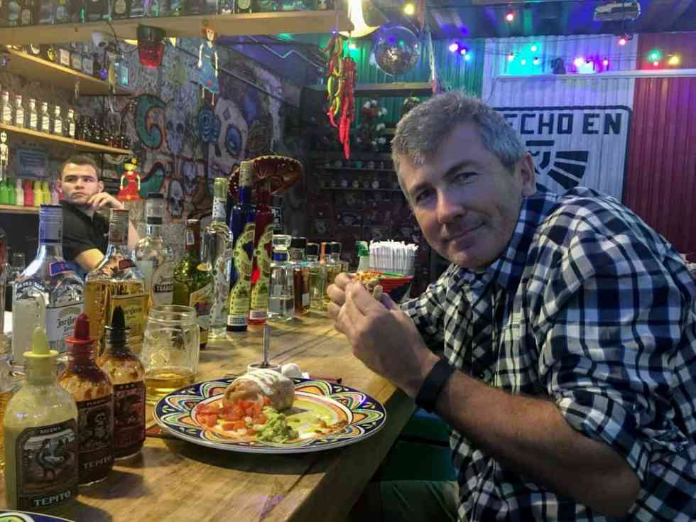 Having diner at Tepitos – Tacos y Tequila