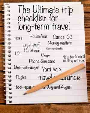 The Ultimate trip checklist for long-term travel_PIN