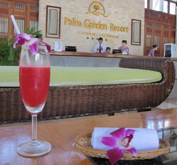 Palm Garden Resort Hoi An welcome drink