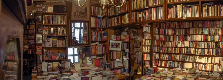 Inside Shakespeare and Co Paris France