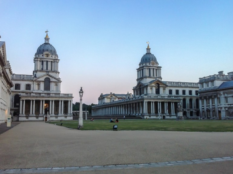 View across the Naval College at Greenwich London UK