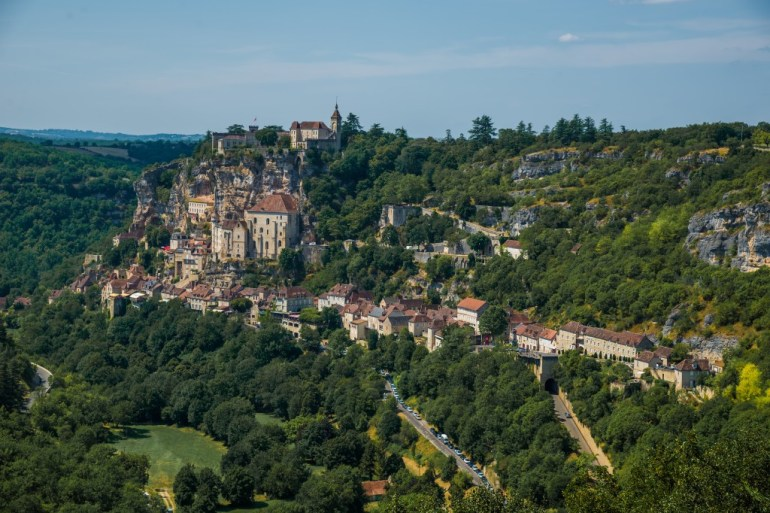 Rocamadour from afar, France, the Dordogne