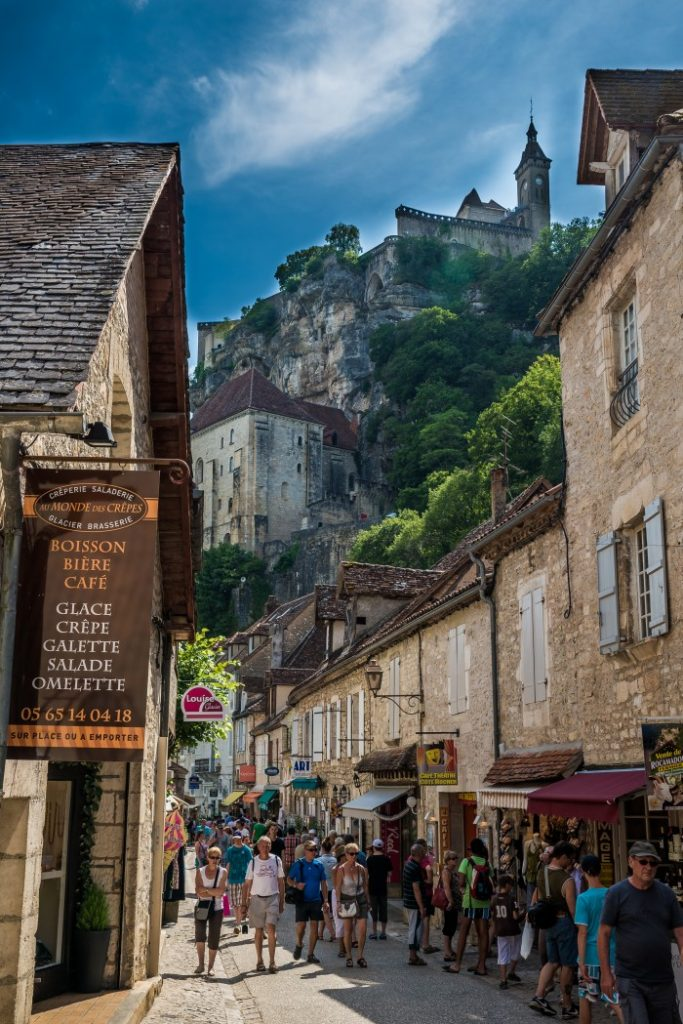 The streets of Rocamadour, France