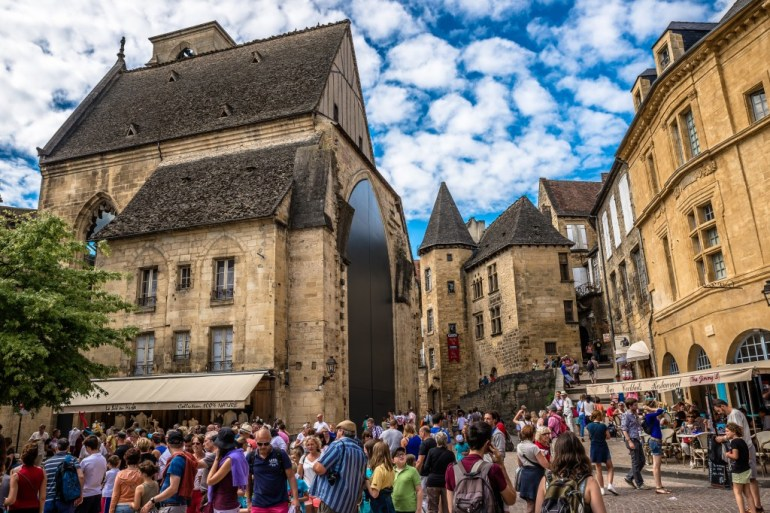 Sarlat, the tourist town in southern France, Dordogne