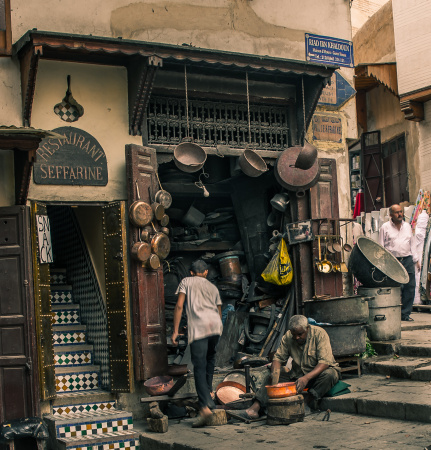 The skilled Metal and Copper workers of Fes