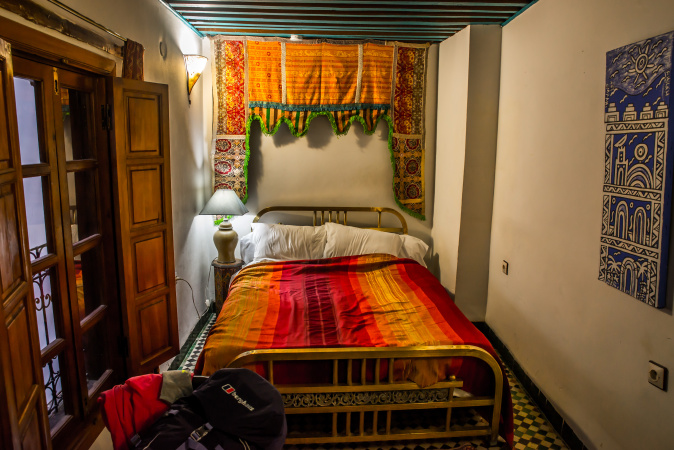 The Paprika Room at Riad Laayoun, Fes, Morocco
