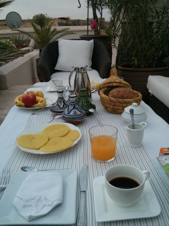 Breakfast at Riad Camilia, Marrakech, Morocco