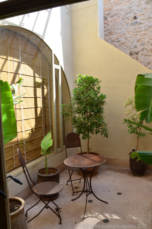 Private patio, suite 4, Riad Camilia, Marrakech, Morocco