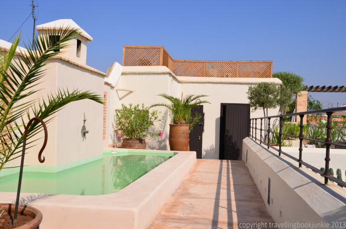 Top terrace dipping ppol, Riad Camilia, Marrakech, Morocco