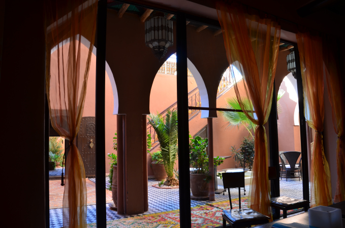 Cozy seatin area, Kasbah Ellouze, Morocco