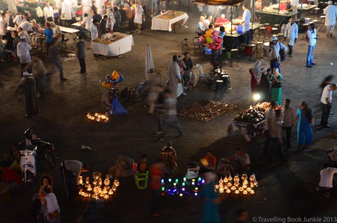 Night Market Marrakech Morocco, Djemaa El Fna