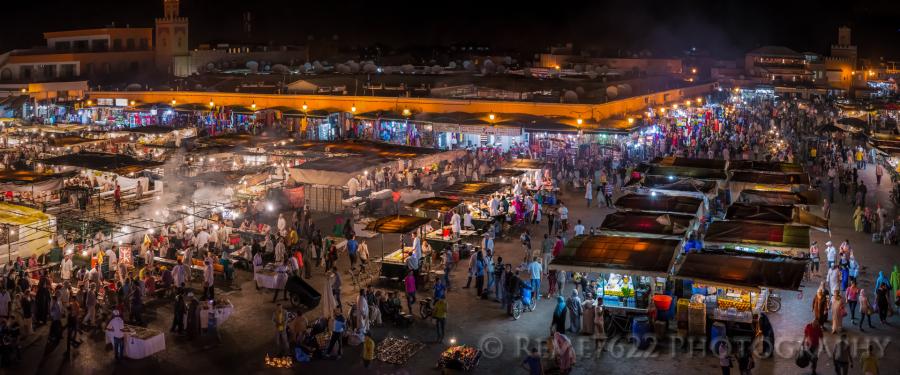 Marrakech at night, Djemaa El Fna