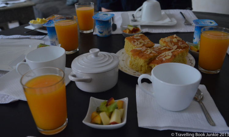 Breakfast at riad cinnamon marrakech morocco