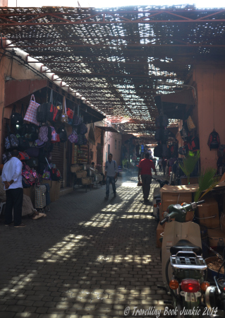 Rue Riad Zitoun, Marrakech, Morrocco. Home of the fixed price shops