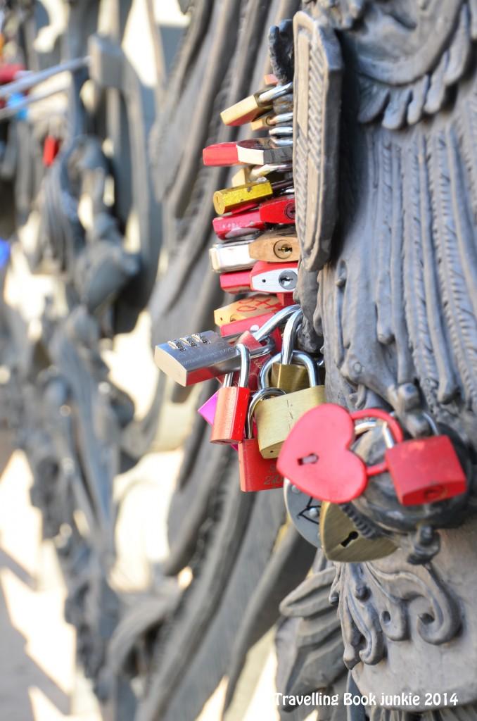 love locks of Berlin on Wilhelmstraße Bridge