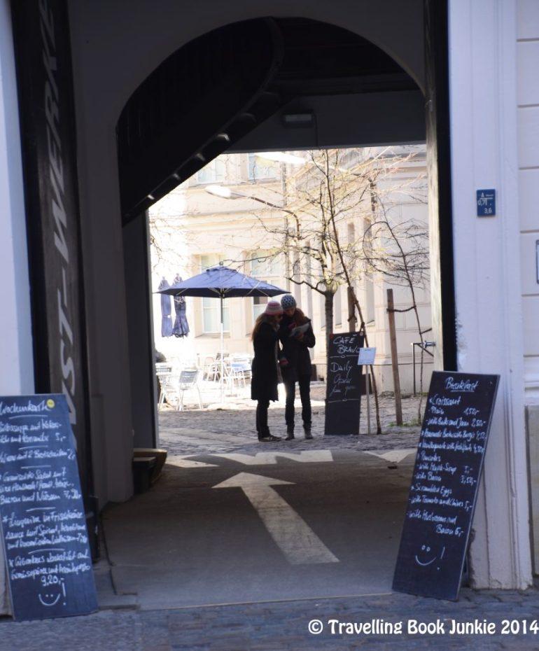 Courtyard to art gallery Berlin Germany