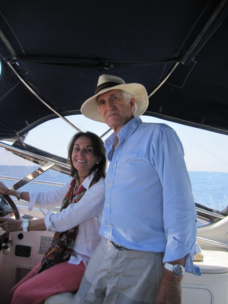 Anthony-and-Ivana-Stancomb-on-a-boat-in-Vis