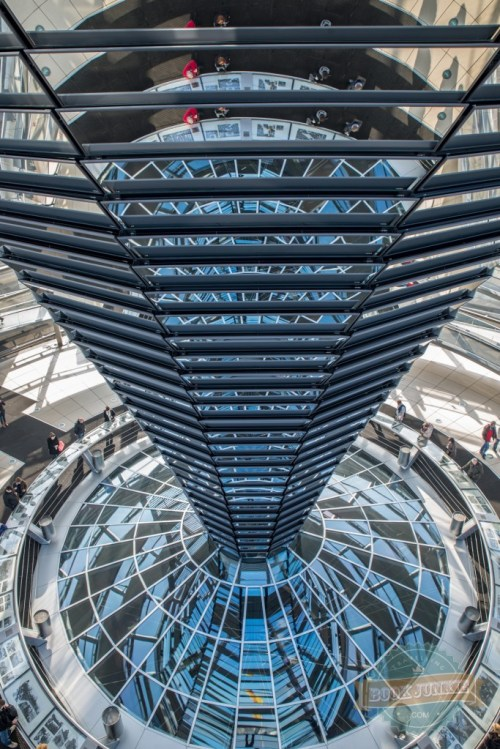 Mirrored-cone-inside-the-dome-Reichstag-Berlin-Germany