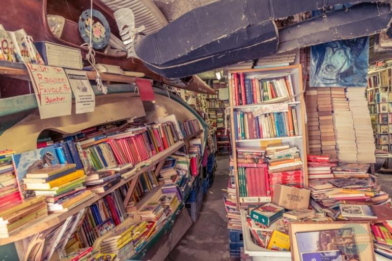 Books in boat