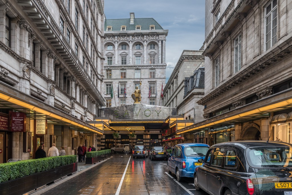 The front of the Savoy hotel in London