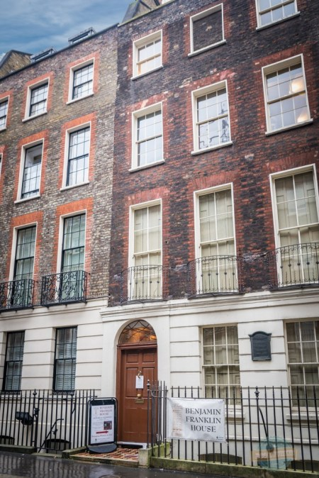 Benjamin Franklin's home in London