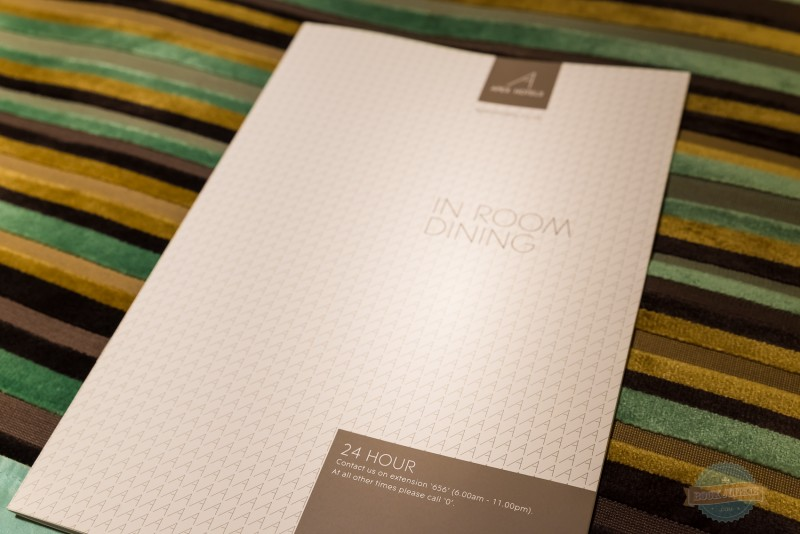 room service menu at the apex london wall