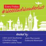 Weekend Wanderlust logo and link up